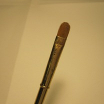 An eyeshadow brush