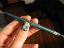 Rimmel Exaggerate Eye Definer in the colour Emerald Sparkle