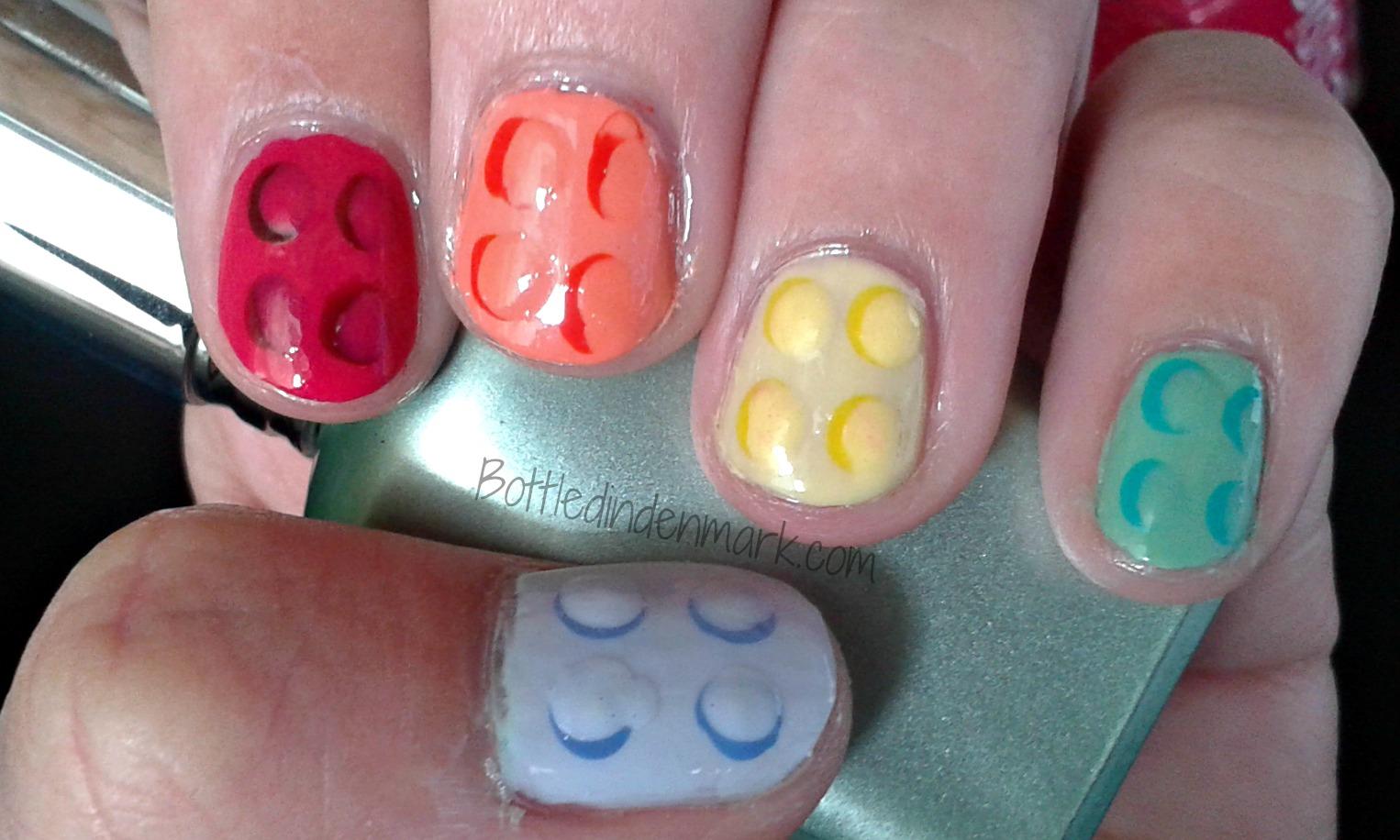 Nerdy-nails-for-work: Pastel LEGO Bricks Nail Art