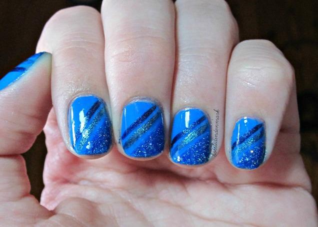 Blue diagonal stripes 1