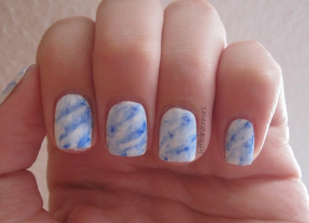 Marble with sharpie blue 1