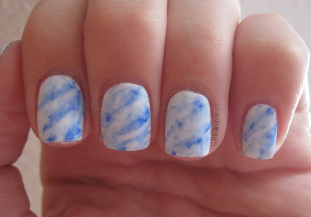 Marble with sharpie blue 2