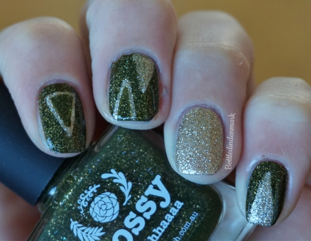 Green and gold triangles 2