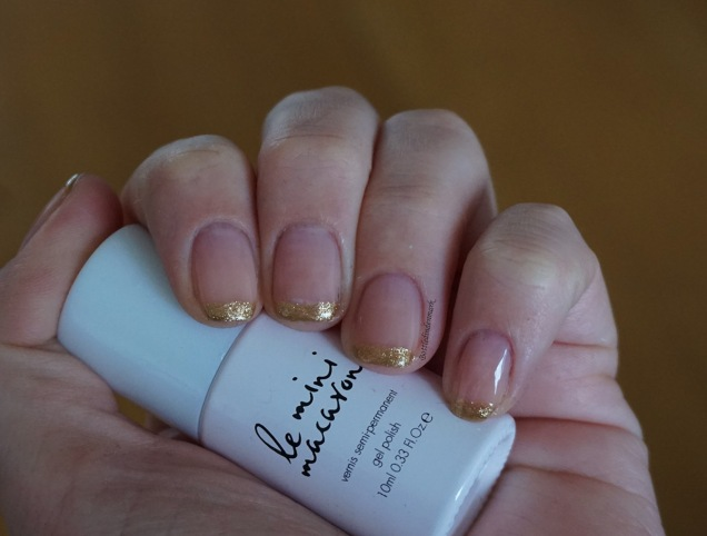 Gold french tips 1