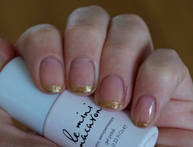 Gold french tips 2