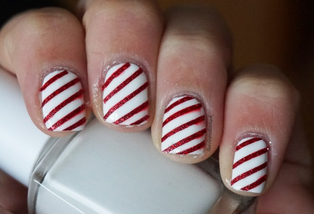 Candy Cane Nails 2