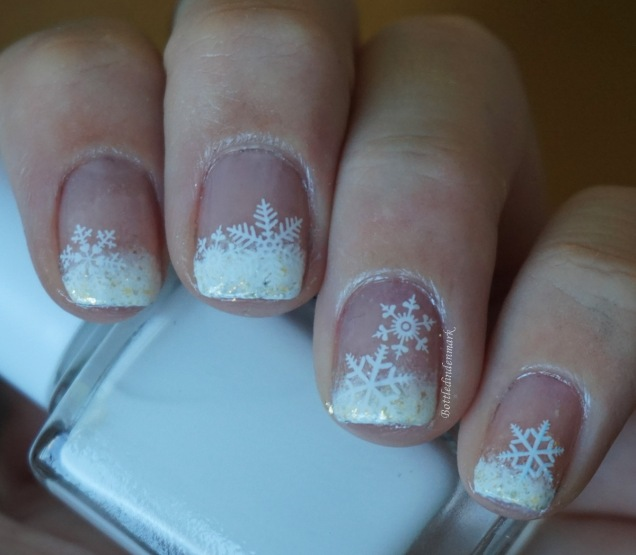 Gradient French Tip Snowflakes 2