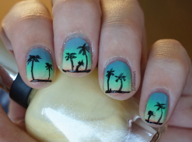 Sunset palm trees 1